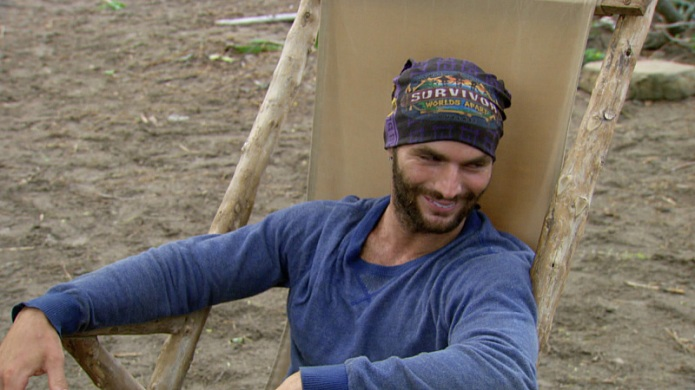 """Holding On For Dear Life"" -  Rodney Lavoie Jr. during the twelfth episode of SURVIVOR on the 30th season, Wednesday, May 6 (8:00-9:00 PM, ET/PT) on the CBS Television Network. Photo: Screen Grabs/CBS ©2015 CBS Broadcasting, Inc. All Rights Reserved."