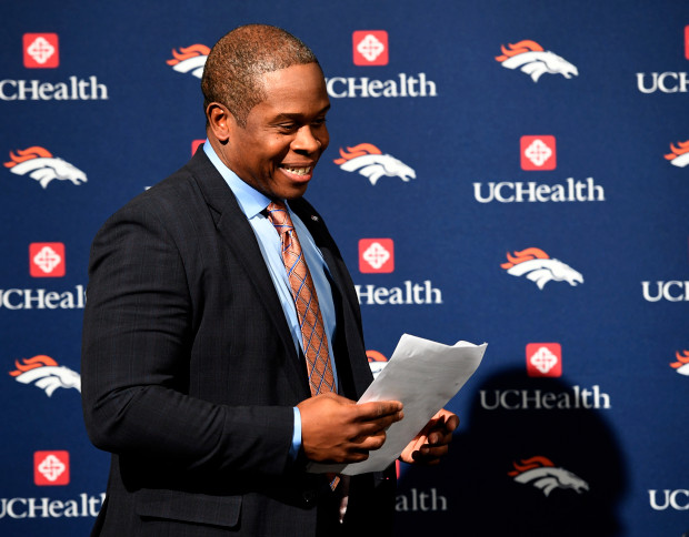 ENGLEWOOD, CO - JANUARY 12: Denver Broncos announce Vance Joseph as the teams 16th head coach during a press conference January 12, 2017 at Dove Valley. (Photo By John Leyba/The Denver Post)